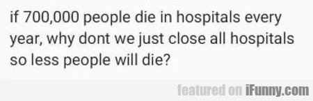 If 70000 People Die In Hospitals Every Year...