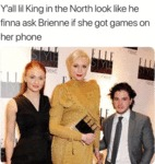 Y'all Lil King In The North Look Like He Finna...