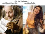 Ten Year Challenge - Aunt May 10 Years Ago...