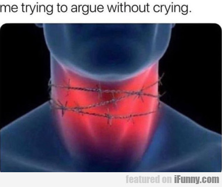 Me Trying To Argue Without Crying