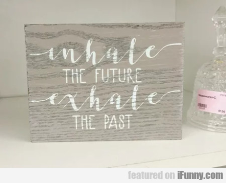 Inhale The Future - Exhale The Past...