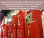 In The Late 90's Coca-cola Tested Vending Machines