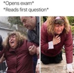 Opens Exam - Reads First Question