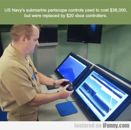 US Navy's submarine periscope controls used...