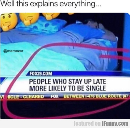 Well this explains everything... People who stay..