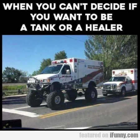 When You Can't Decide If You Want To Be A Tank...