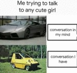Me Trying To Talk To Any Cute Girl...