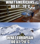 What Americans Do At -20 C