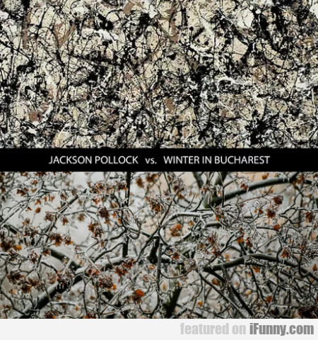 Jackson Pollock vs Winter in Bucharest