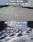Every Major Ski Resort At 8:00 Am