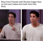 Ross From Friends With Nicolas Cage Face On...