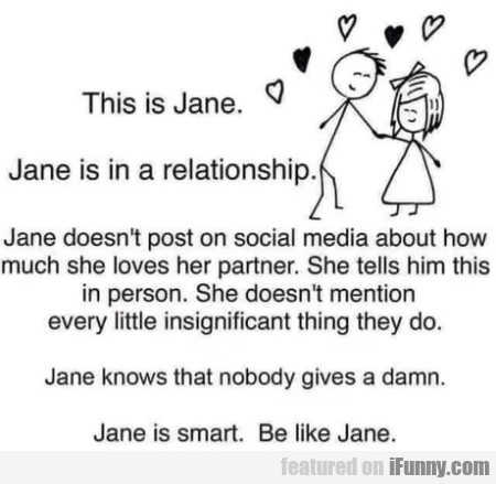 This Is Jane - Jane Is In A Relationship...