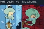 Me In Public Vs Me At Home