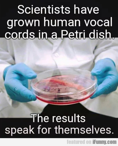 Scientists Have Grown Human Vocal Cords...