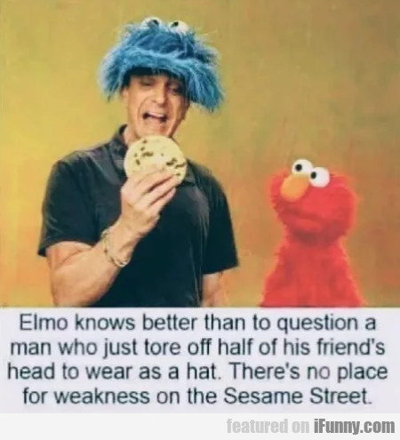 Elmo Knows Better Than To Question...