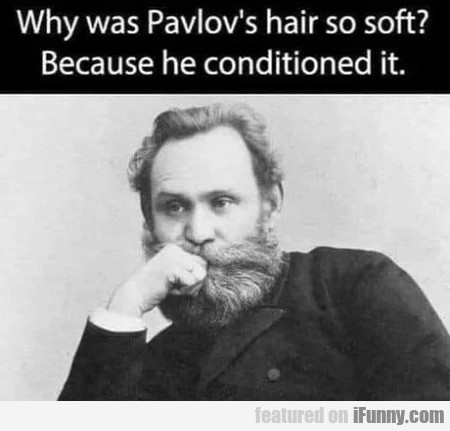 Why was pavlov's hair so soft?