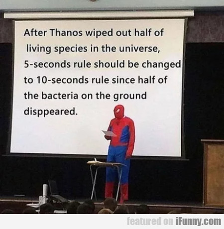 After Thanos Wiped Out Half Of Living Species...