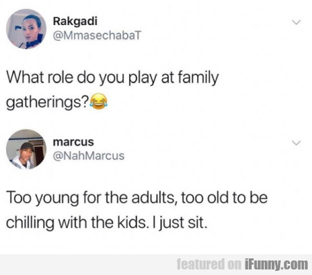 What role do you play at family gatherings...