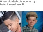 8 Year Olds Haircuts Now Vs My Haircut