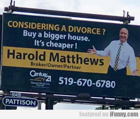 Considering A Divorce - Buy A Bigger House
