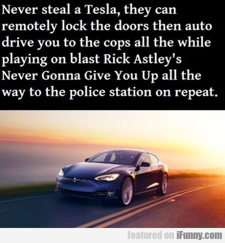 Never Steal A Tesla, They Can Remotely Lock...