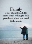 Family Is Not About Blood It's About Who's...