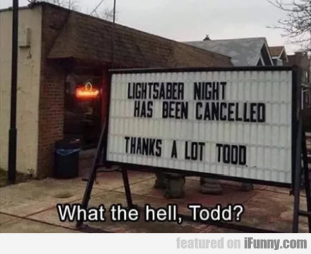 Lightsaber Night Has Been Cancelled