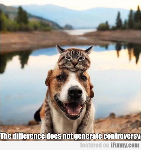 The Difference Does Not Generate Controversy