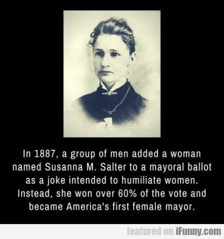 In 1887, A Group Of Men Added A Woman Named...
