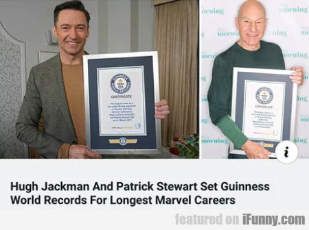 Hugh Jackman And Patrick Stewart Set Guiness...