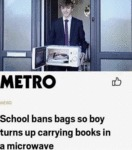 School Bans Bags So Boy Turns Up Carrying...