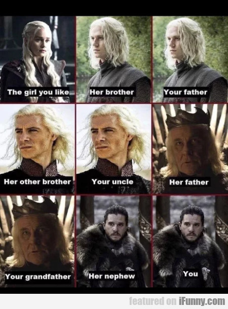 The girl you like - Her brother - Your father...