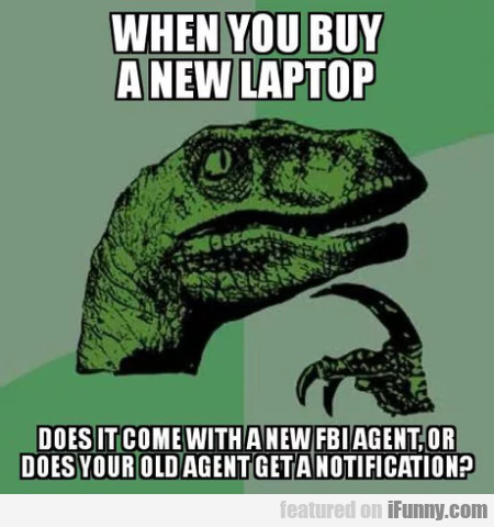 When you buy a new laptop - does it come...