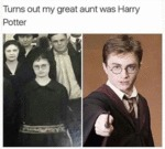 Turns Out My Great Aunt Was Harry Potter...