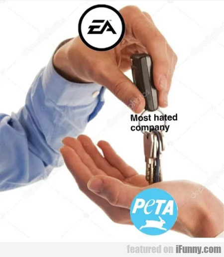 EA - Most hated company - PETA