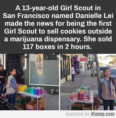 13-year-old Girl Scout in San Francisco...