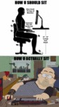 How U Should Sit - How U Actually Sit