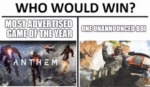 Who Would Win - Most Advertised Game Of The Year..