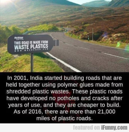 In 2001, India Started Building Roads That Are...