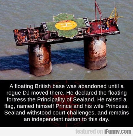 A floating british base was abandoned until a...