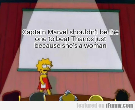 Captain Marvel Shouldn't Be The One To Beat...
