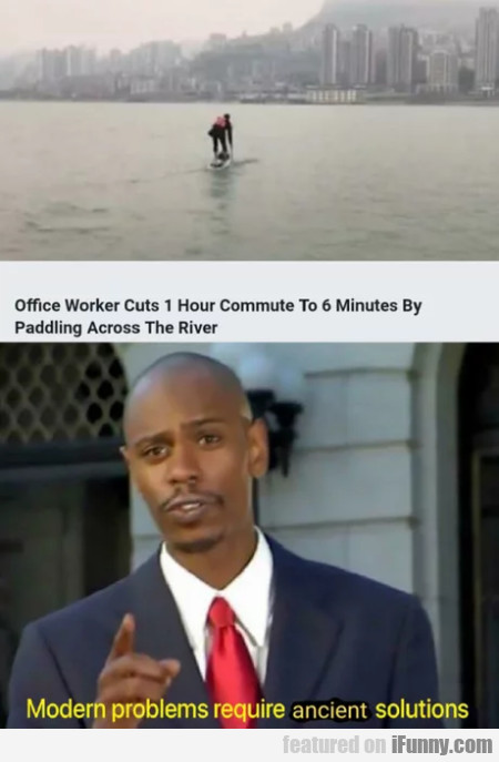 Office Worker Cuts 1 Hour Commute To 6 Minutes...