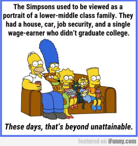 The Simpsons Used To Be Viewed As A Portrait...