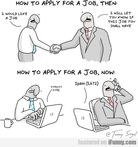 how to apply for a job, then and now