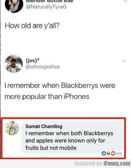 How old are y'all?