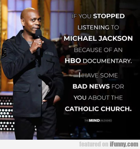 If You Stopped Listening To Michael Jackson...