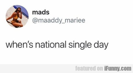 When's National Single Day