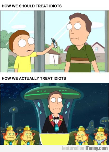 How We Should Treat Idiots - How We Actually...