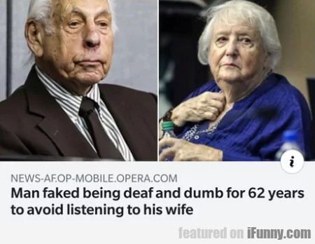 Man Faked Being Deaf And Dumb For 62 Years...