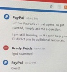 Hi! I'm Paypal's Virtual Agent. To Get Started...